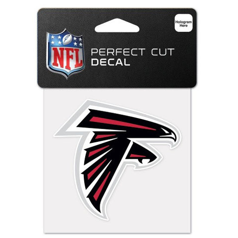 "Perfect Cut Decal - Atlanta Falcons 4""x4"" - BIERskins™"