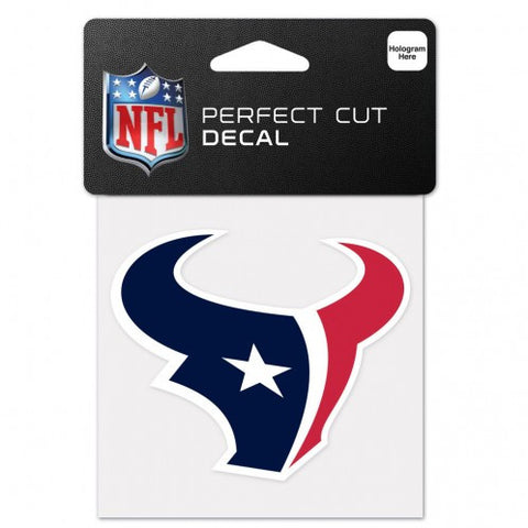 "Perfect Cut Decal - Houston Texans 4""x4"" - BIERskins™"