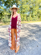 Fall floral duster
