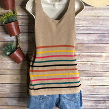 Sassy stripe sweater tank