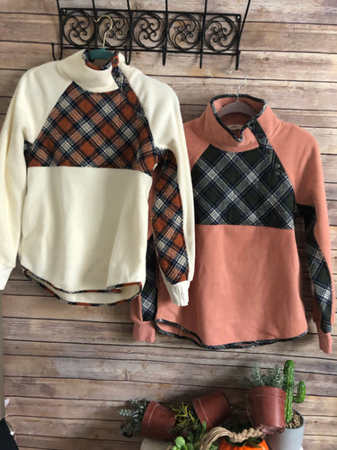 Purposely plaid pullover