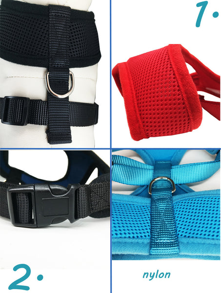"""LOVE"" Paw - Breathable Dog Harness with Soft Chest Strap"