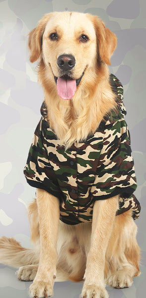 Camouflage Uniform Parka - For Big Dogs