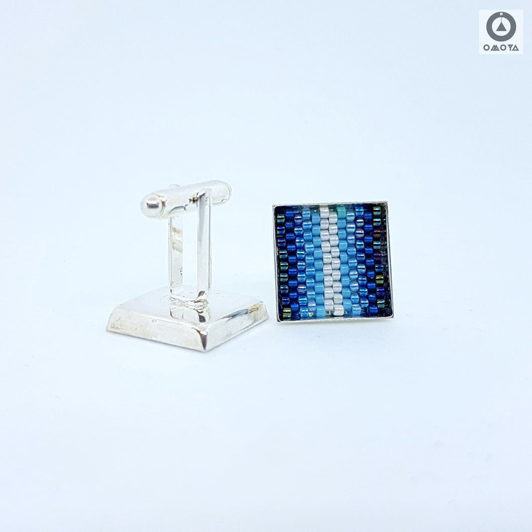 Blue Stripe Cufflinks