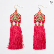 Red and Green Stylized Earrings