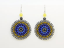 Blue Wheel Earrings