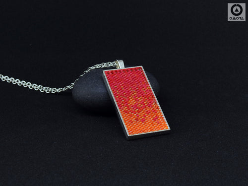 Helter Skelter Pendant - Orange and Fuschia