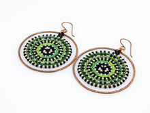 Shades of Green Orbit Earrings
