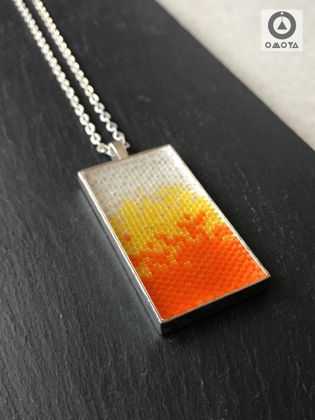 Helter Skelter Pendant - Crystal, Orange and Yellow