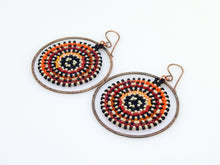 Orange & Red Orbit Earrings