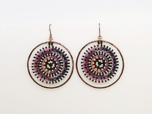 Purple & Lavender Orbit Earrings