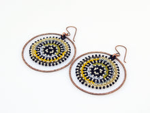 Yellow & Grey Orbit Earrings