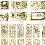 1:12 Tarot Cards Mini Sheet