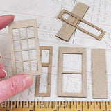 Dollhouse Windows with Shutters 1:24