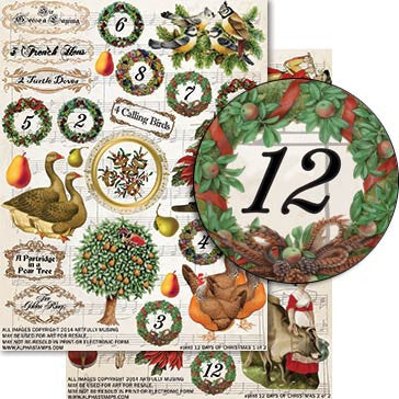 12 Days of Christmas 2-Sheet Set