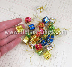 Tiny Wrapped Gift Box Ornaments - 1/2 Inch*