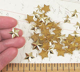 Flat-Back Gold Star Studs - 12mm