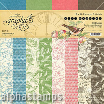 Bird Watcher Prints & Solids 12x12 Paper Pad