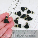 15mm Black & Gold Tassels