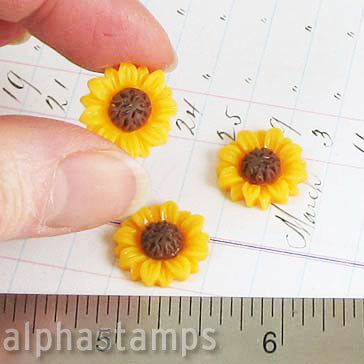 15mm Resin Sunflowers