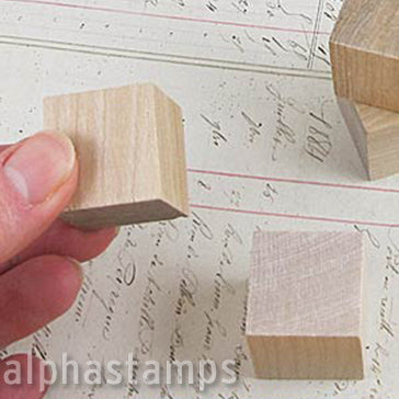 1 Inch Wooden Cube Block*