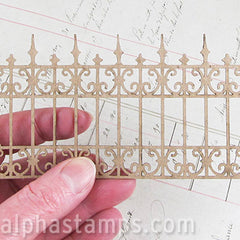 2.5 Inch Tall Wrought Iron Fence