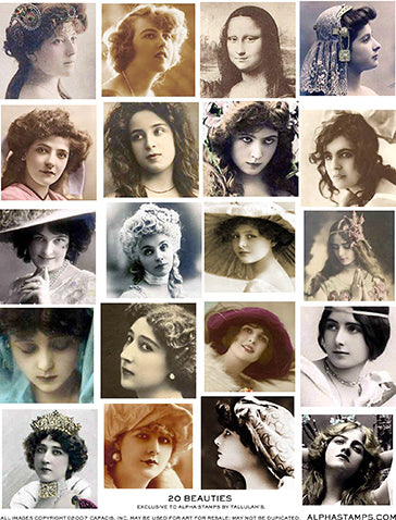 20 Beauties Collage Sheet