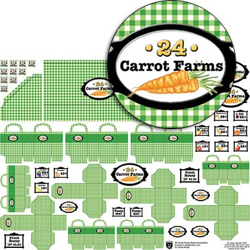 24 Carrot Farms Stand Accessories Collage Sheet