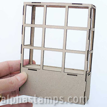 Rectangular Bay Window - Half Scale - 3 Columns