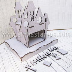 Tealight Haunted House Kit with Base