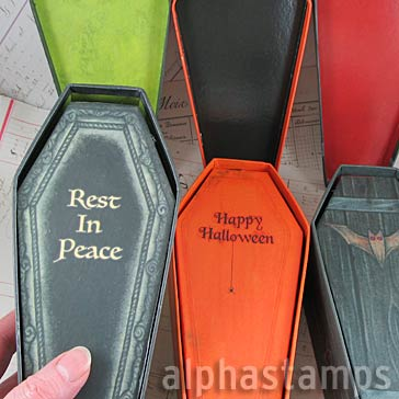 Decorated Coffins with Lids - Set of 3*