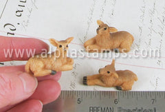 Set of 3 Miniature Resin Deer*