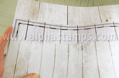 Whitewashed Wood Background Scrapbook Paper*
