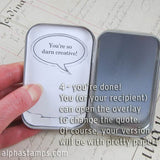 Quote Bubbles for Altoids Tins Collage Sheet Set