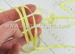 4mm Light Yellow Silk Ribbon