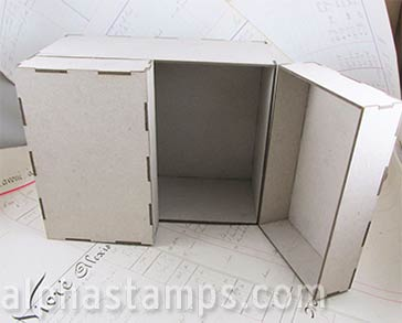 7 Inch Tall Theatre Cabinet - 5 Inch Deep