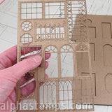 Small Haunted House Window Trims