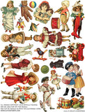 A Child's Christmas Collage Sheet