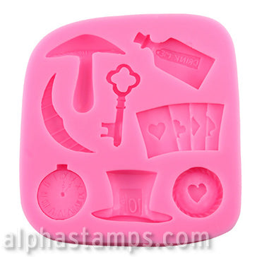 Alice in Wonderland Props Silicone Mold Set