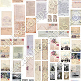 A Lady's Boudoir Ephemera Collage Sheet