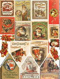 Christmas House Book Covers Collage Sheet