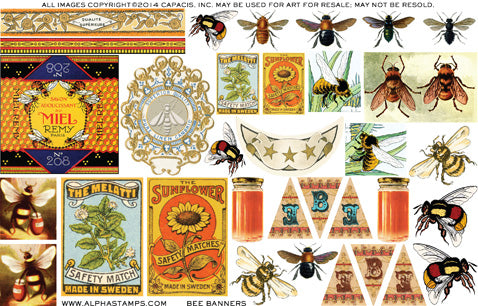 Bee Banners - Half Sheet