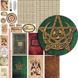 A Witch's Grimoire Collage Sheet
