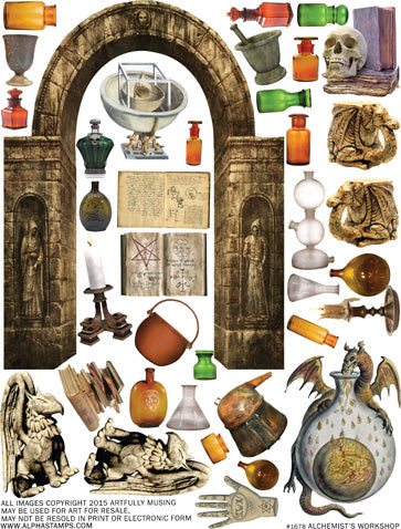 Alchemist's Workshop Collage Sheet