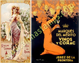 Art Nouveau Alcohol Posters Collage Sheet