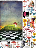 Alice Plays Croquet Collage Sheet