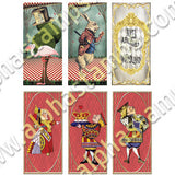 Alice in Wonderland Dominoes Collage Sheet