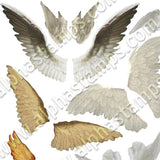 Angel Wings Collage Sheet