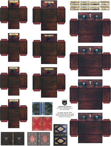 Apothecary Drawers Collage Sheet
