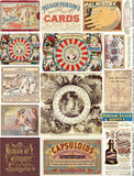 Covers for Apothecary Tins Collage Sheet